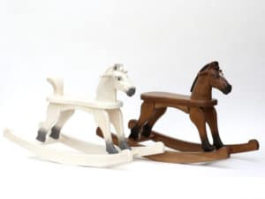 Wooden Rocking Horses in various colour finishes