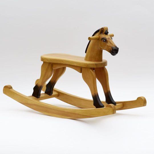 Dřevěný houpací koník v barevném provedení plavák
