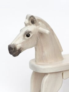 Wooden Rocking Horse, White Colour Finish