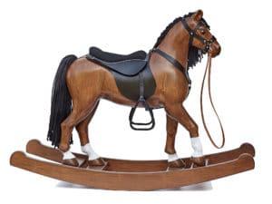 Dřevěný houpací kůň Čenda 53, barevné provedení hnědák