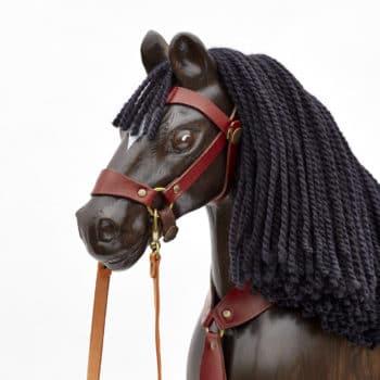 Hlava koně s pečlivě upravenou vlněnou hřívou