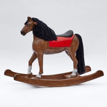 Houpací kůň Čenda 39 z masivního borového dřeva hnědák