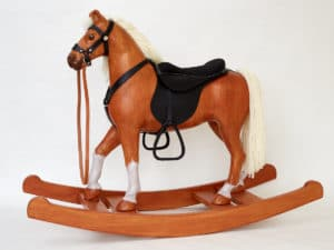 Wooden Rocking Horse, Chestnut Colour Finish