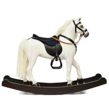 Velký bílý houpací kůň