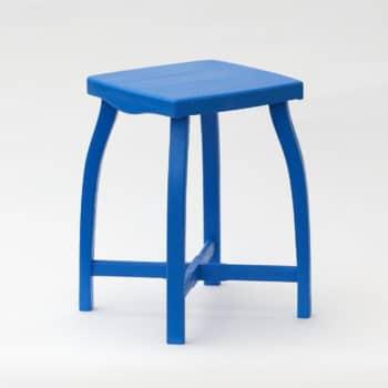 Modrá stylová dřevěná stolička vysoká 35 cm