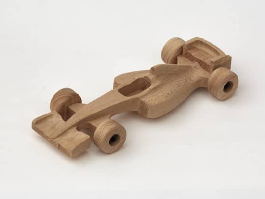 Dřevěná formule z bukového dřeva - trvanlivá dřevěná hračka pro děti od 2 let
