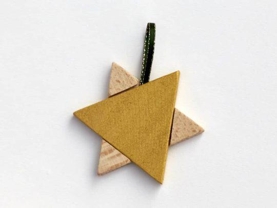 Hvězda jako vánoční ozdoba z bukového dřeva