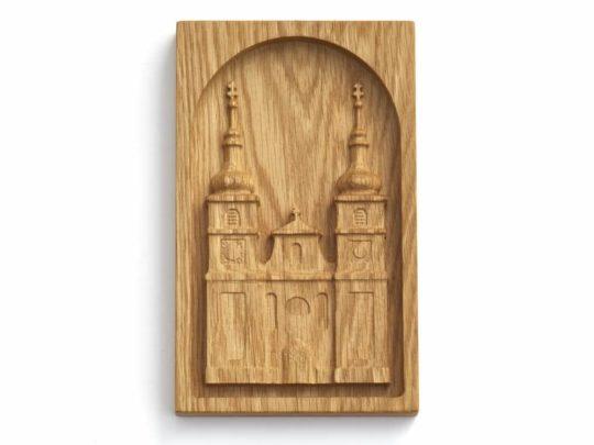 Dřevěný reliéf - klášterní kostel