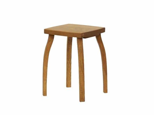 Stylová stolička z borového dřeva hnědá