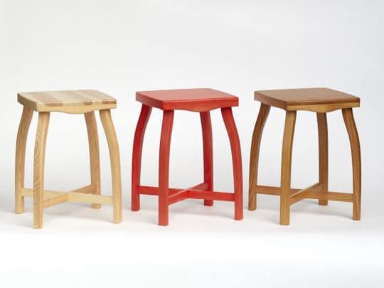 Stoličky Sella 35 lakovaná borová, borová červená a lakovaná třešňová